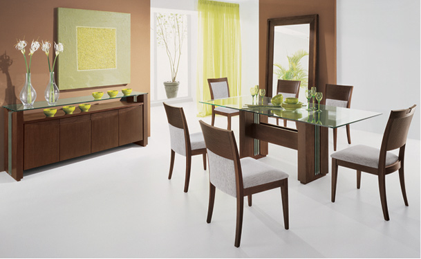 Comedores muebles de lolo morales for Salas de madera modernas