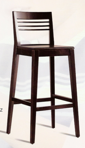 Taburete bar aranjuez madera barnizadoo muebles de lolo for Taburete bar madera