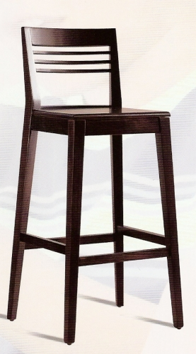 Taburete bar aranjuez madera barnizadoo1 muebles de lolo for Taburetes de bar de madera