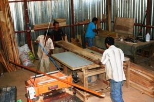 Modulo de producción flexible laborando