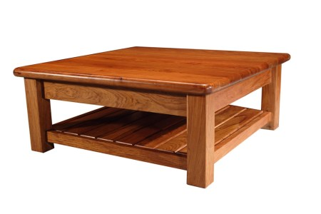 mesa cafetera central cuadrada con rack abajo