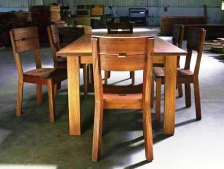 mesa de conferencias rustique para 6 personas