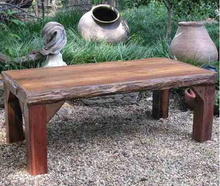 square rustic coffe table