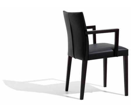 Silla Rousso respaldo de madera completo y asiento tapizado